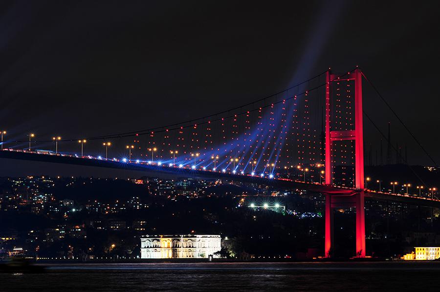 Bosporský most a pohled na asijskou stranu