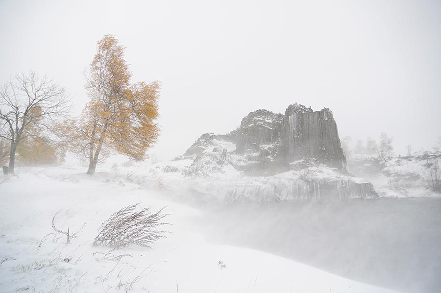Podzim pod sněhem