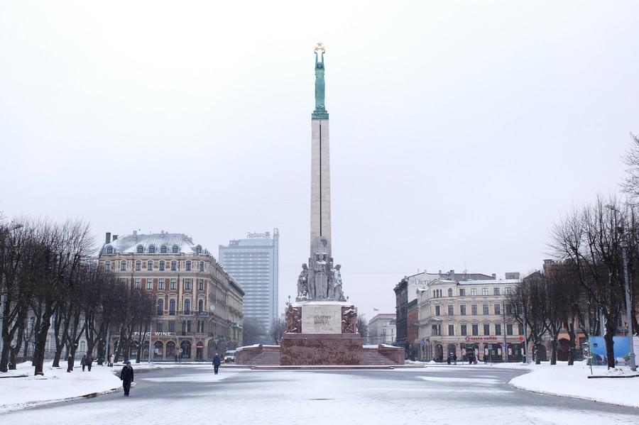 Pomník svobody na bulváru Brivibas. // Riga, Lotyšsko