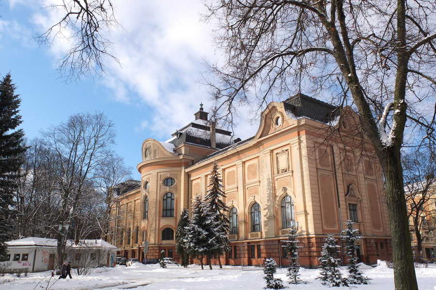 Budova národního muzea. // Riga, Lotyšsko
