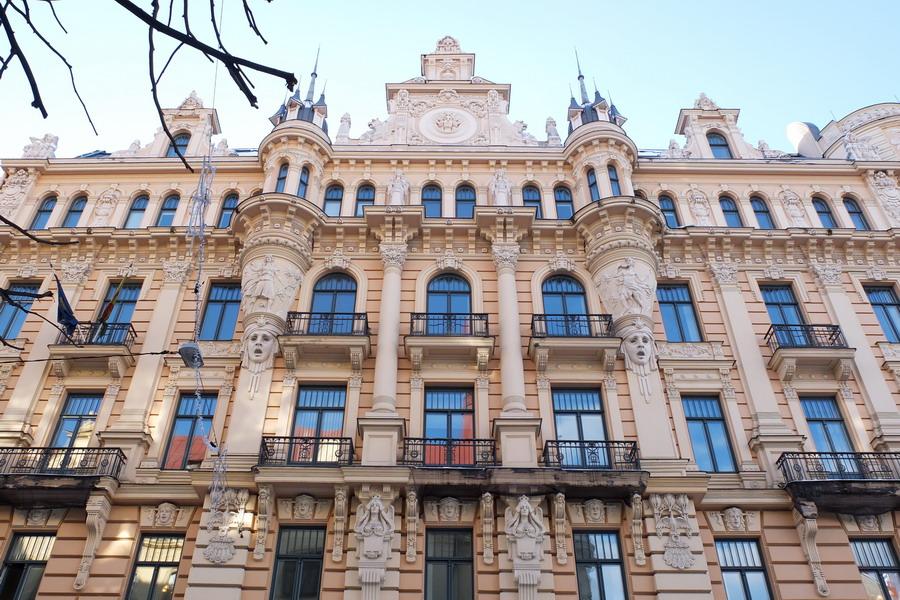 Riga, město secesních památek. // Riga, Lotyšsko