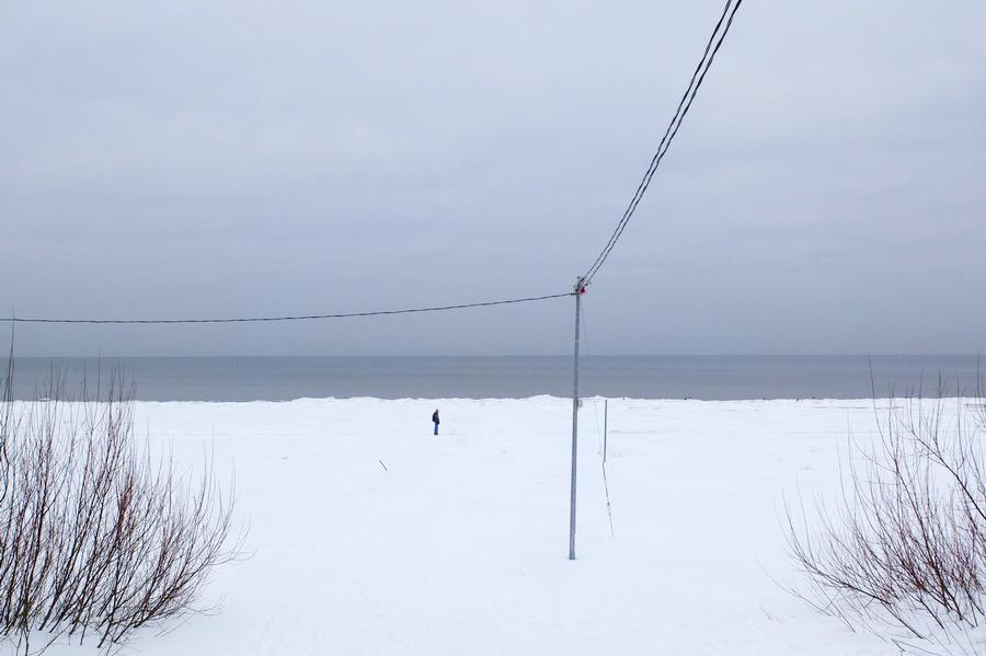 Pusto prázdno - to je pobřeží Baltu v únoru.