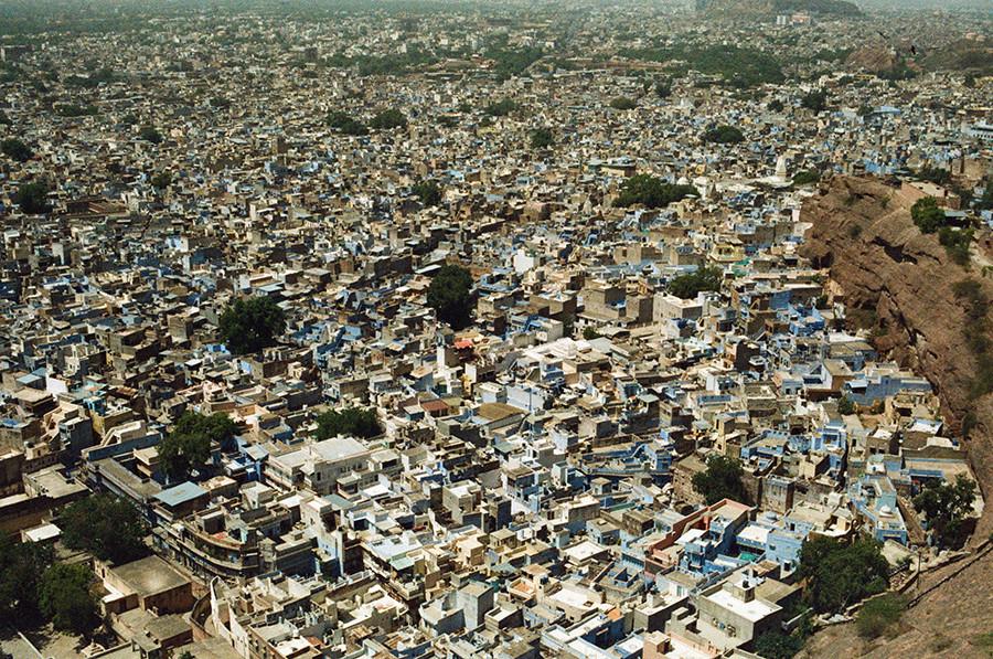 Jodhpur při pohledu z pevnosti Mehrangarh - Jodhpur, Indie