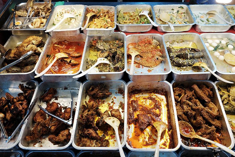 báječné jídlo v Kuala Lumpur, Malajsie