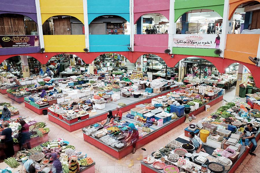 tržnice v Kota Bharu, Malajsie