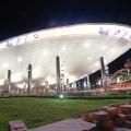 Saudská arábie si přivezla další UFO. Na střeše byl park s vzrostlými palmami.