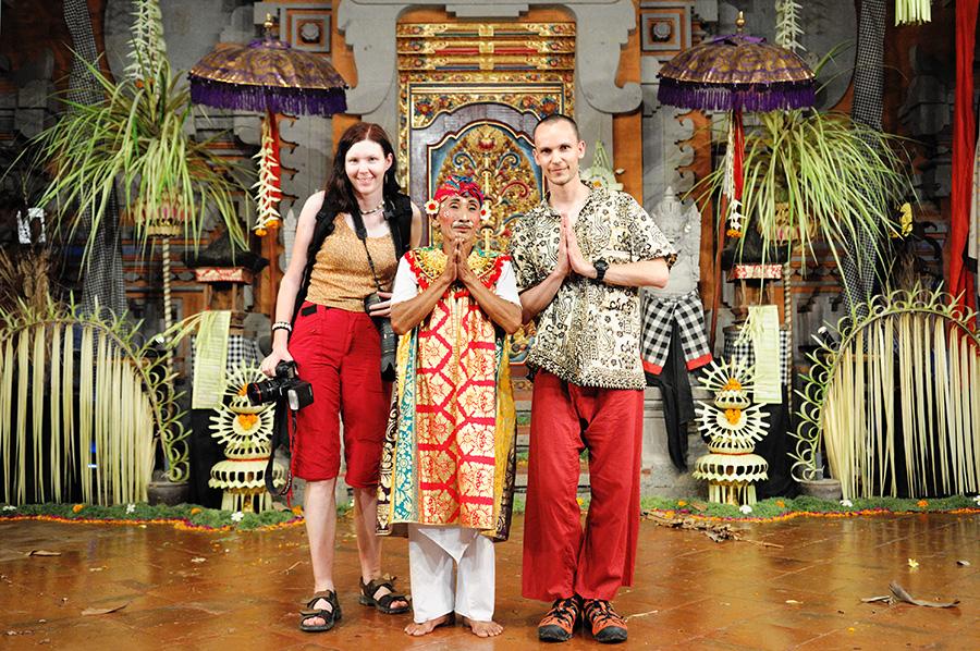 V Ubudu (Bali), po tradičním představen z mytologie Barong Dance.