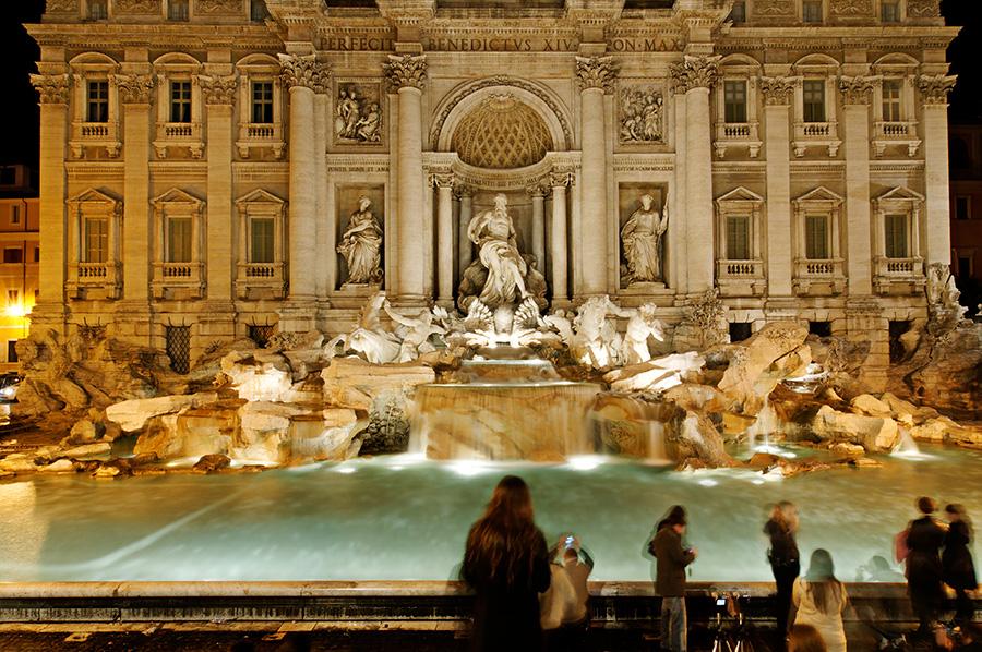 Fontána di Trevi, Řím, Itálie