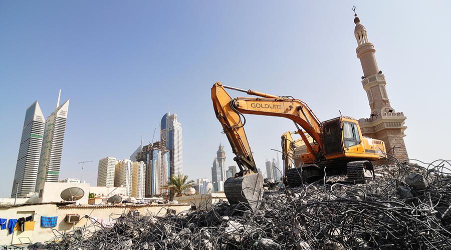 Dubaj, jedna velká stavba.