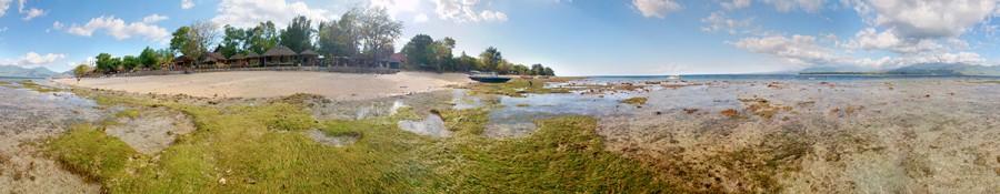 Gili Air - drobný ostrůvek západně od Lomboku, šnorchlařů ráj