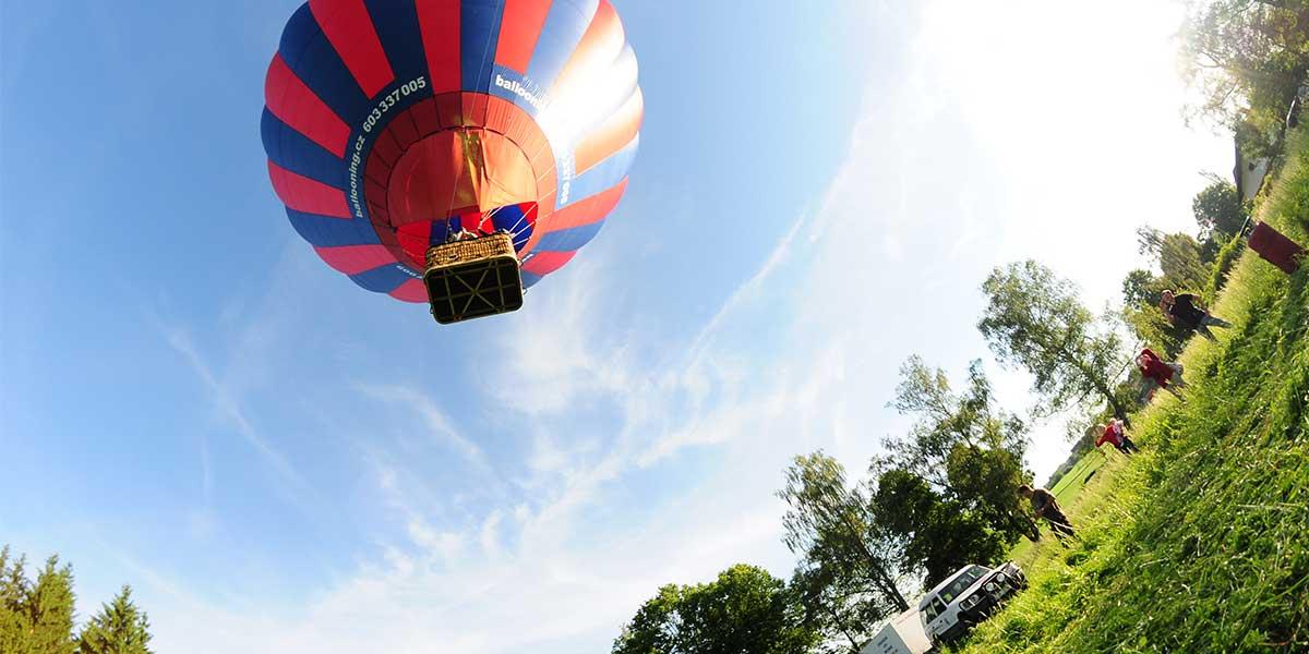 Balónový den rybím okem