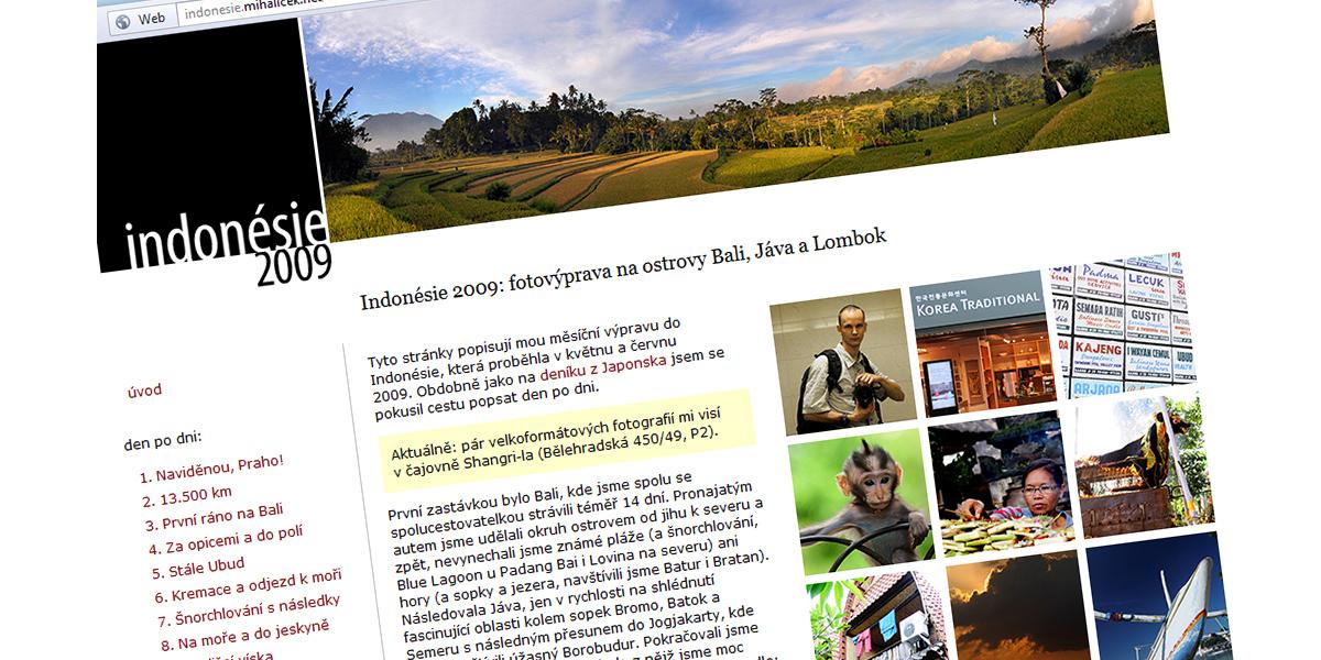 Indonésie 2009: web hotov