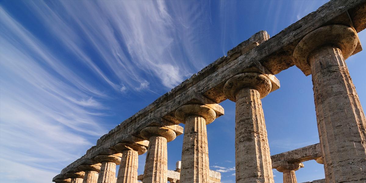 Paestum, antické chrámy