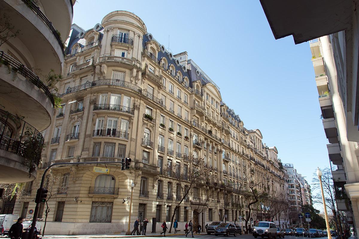 zástavba v Buenos Aires připomíná Paříž