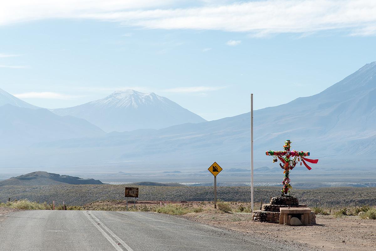 kříž u silnice, chile
