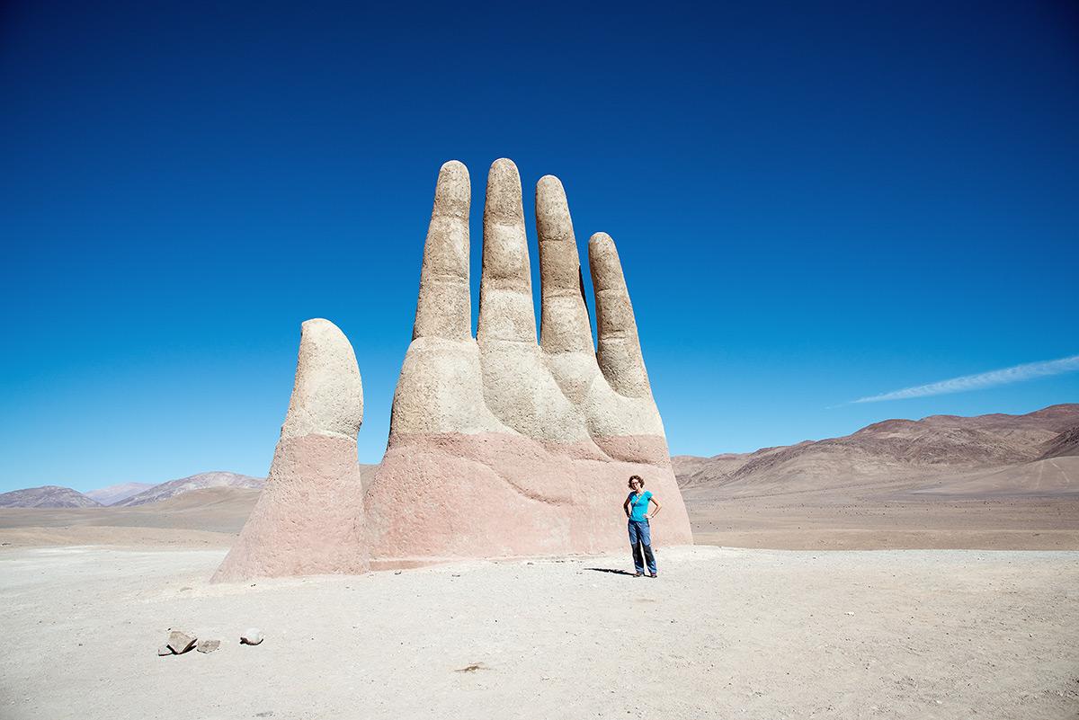 ruka pouště, antofagasta, chile